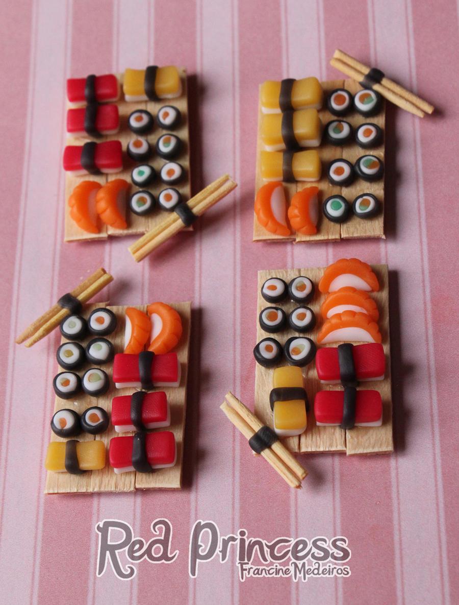 Bandejas sushi by theredprincess