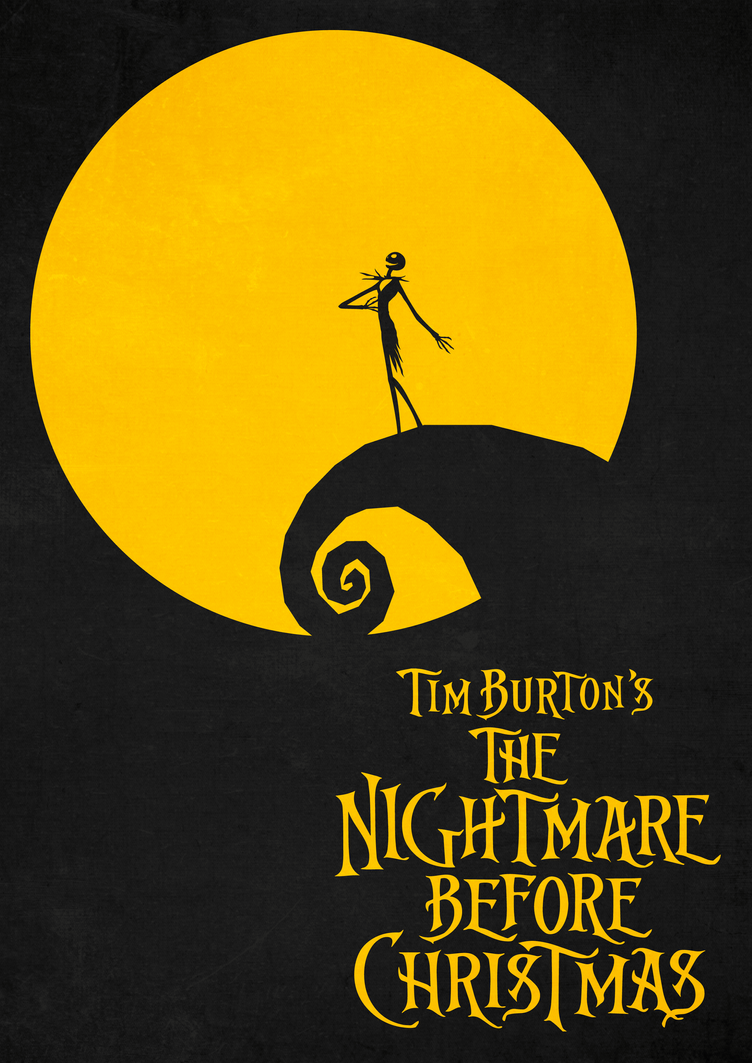 the nightmare before christmas poster by neroangelus - The Nightmare Before Christmas Poster