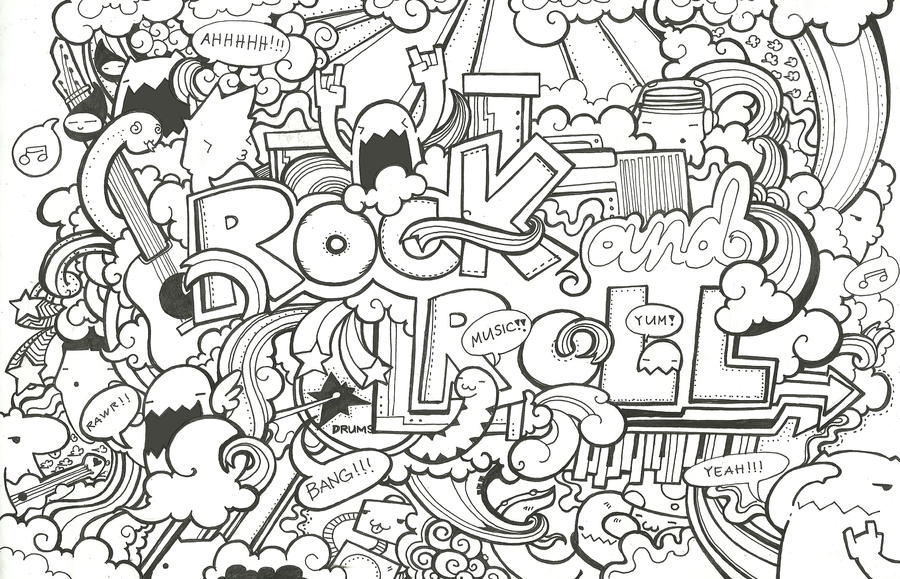 Rock and roll by sleepismyheroii on deviantart for Rock and roll coloring pages