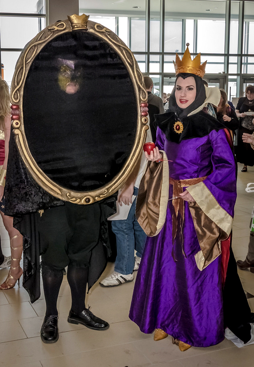 Evil Queen and Magic Mirror Cosplay by PetiteMascarade on DeviantArt