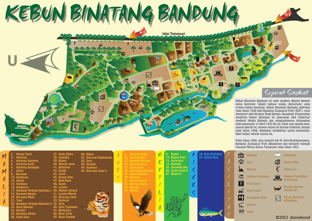 Redesign Map of Bandung Zoo by doondoond on DeviantArt