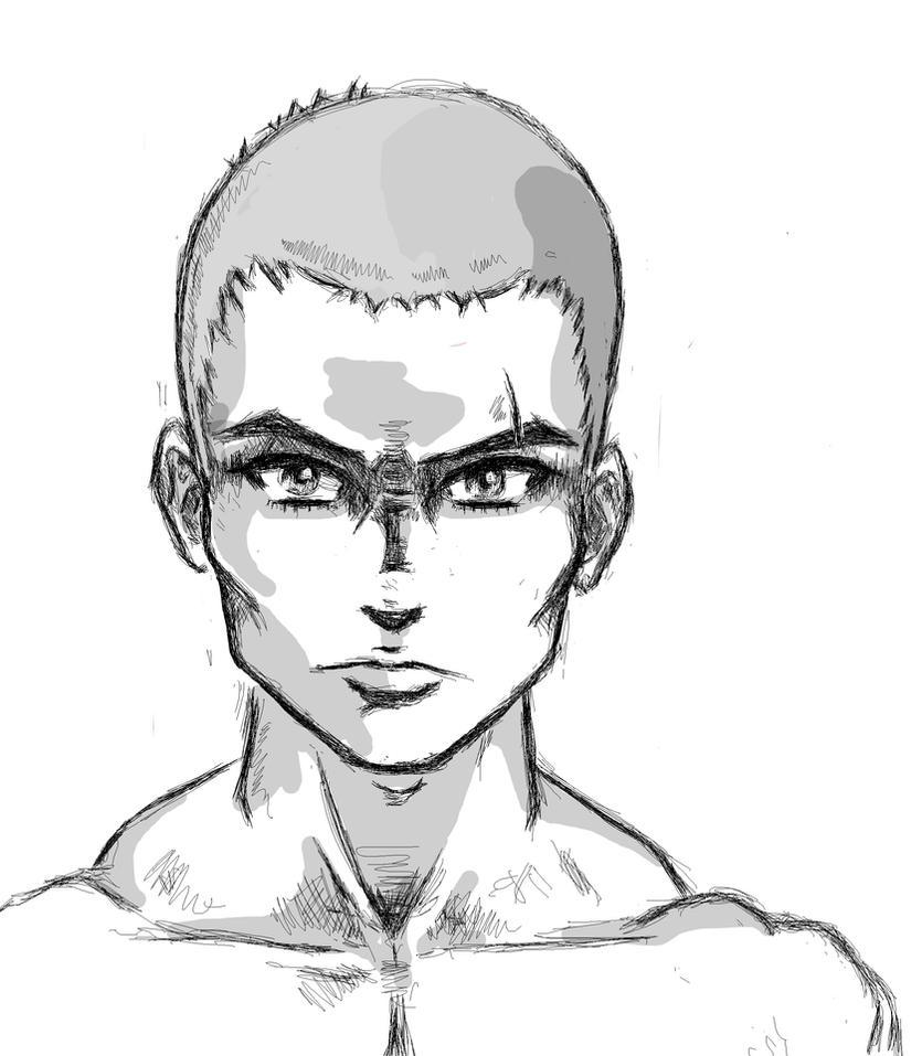 anime male face - 834×957