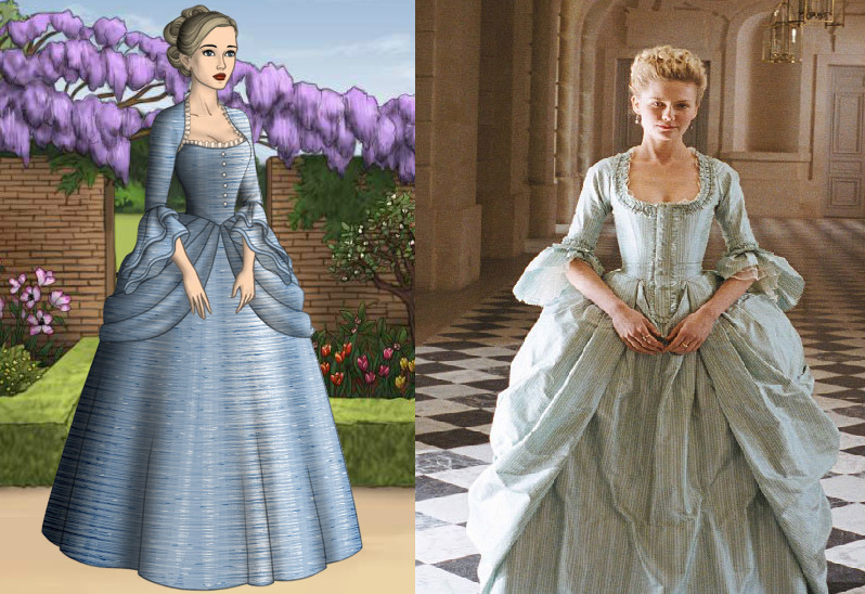 Marie Antoinette: Blue ruffle Gown by Inuyashasmate