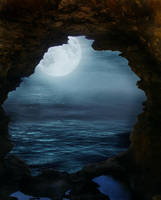 Moonlit Cave by InToXiCaTeD--StOcK