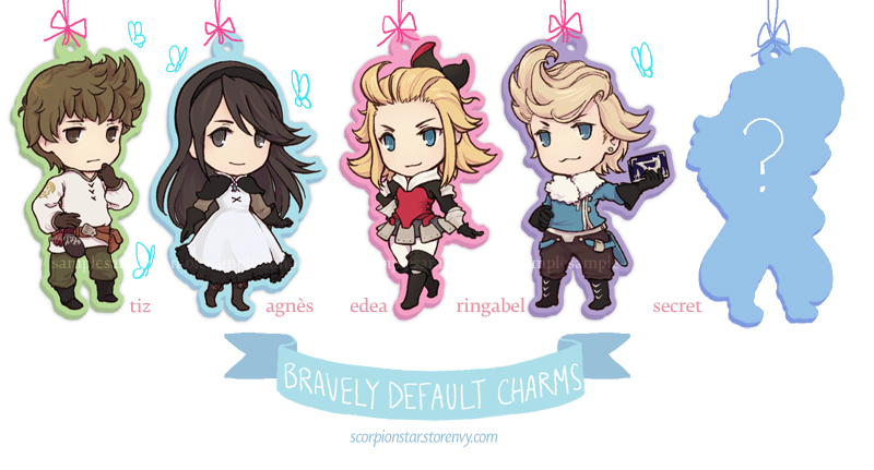Bravely Default Charms by tea-and-dreams