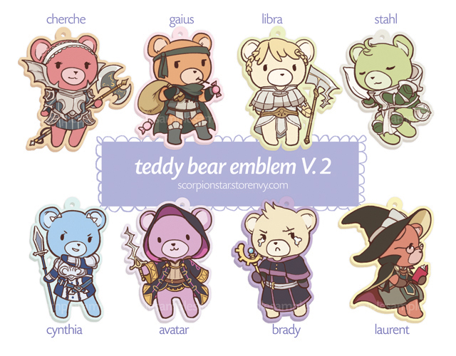 Teddy Emblem Bonus characters by tea-and-dreams