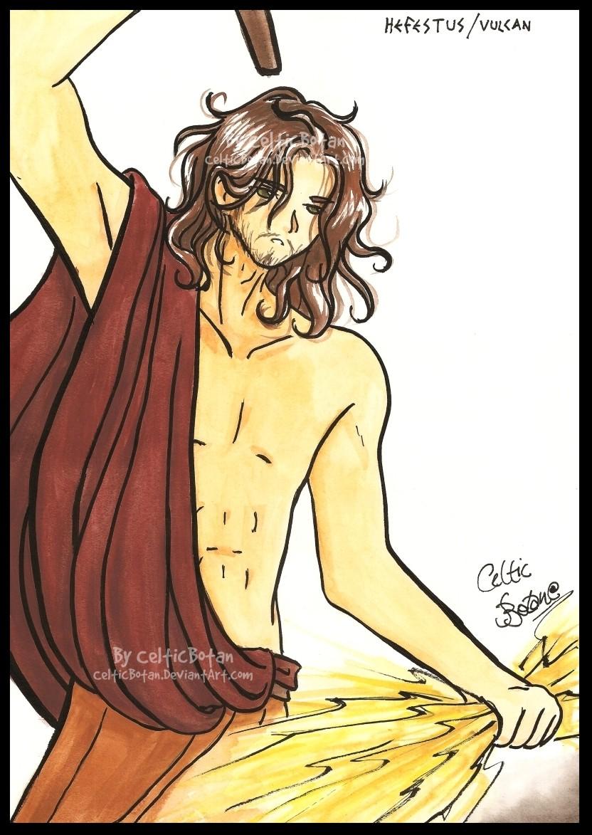 how to draw hephaestus the greek god