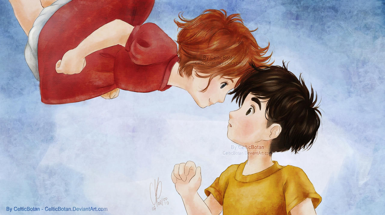 Ponyo and Sosuke by CelticBotan on DeviantArt