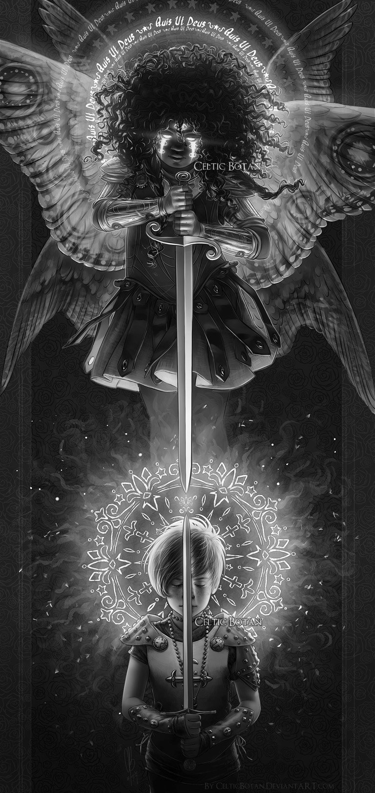 VOICES OF LIGHT: Joan of Arc and Saint Michael by CelticBotan