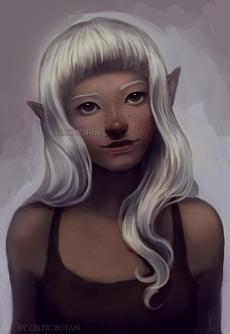 Elf Girl Portrait by CelticBotan
