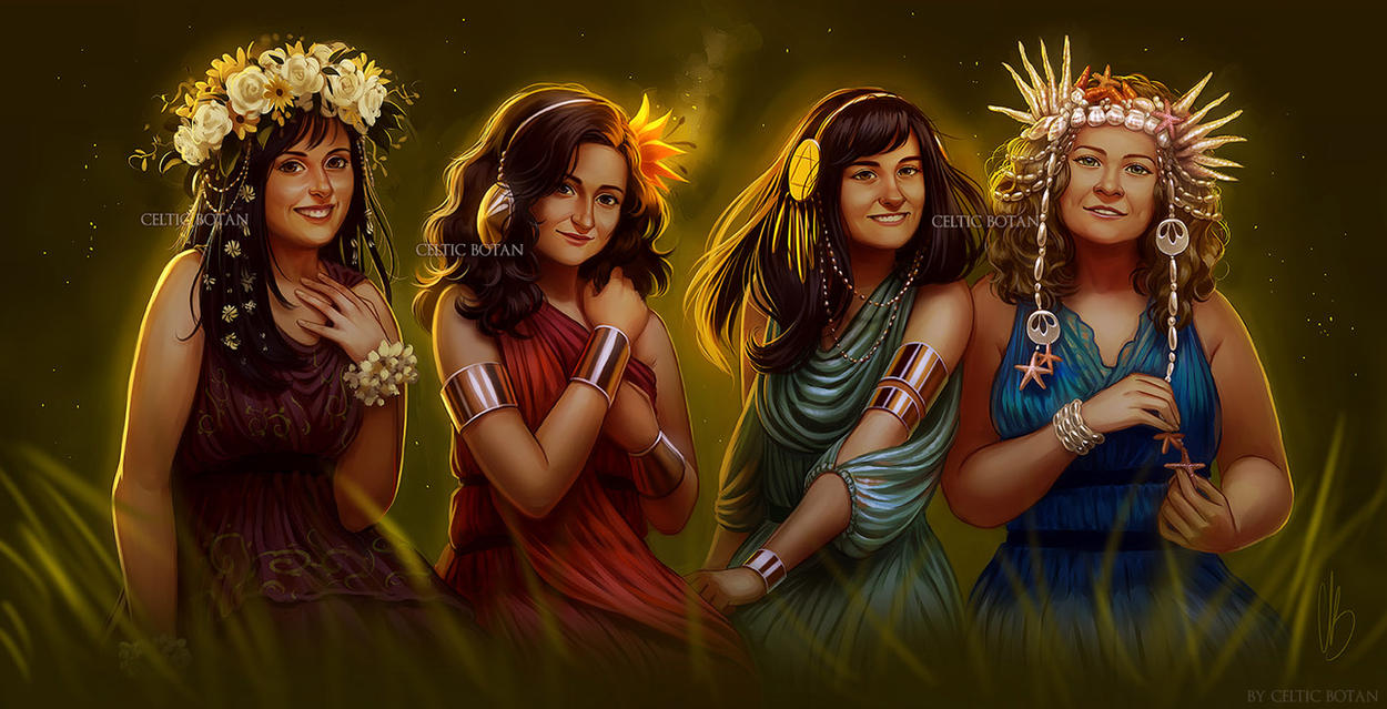 Sisters of the Earth (Fantasy Portrait Commission) by CelticBotan