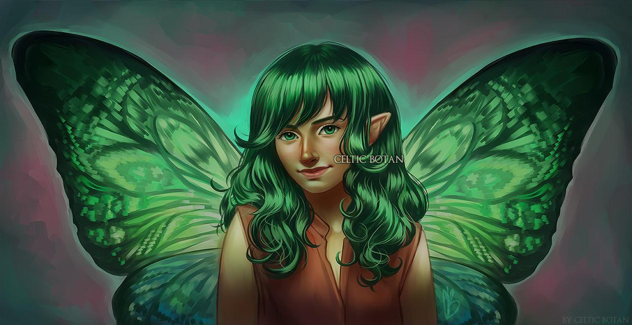 Elina (Bust Full Color Commission) by CelticBotan
