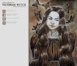 Inktober, Day 3 - VICTORIAN WITCH by CelticBotan