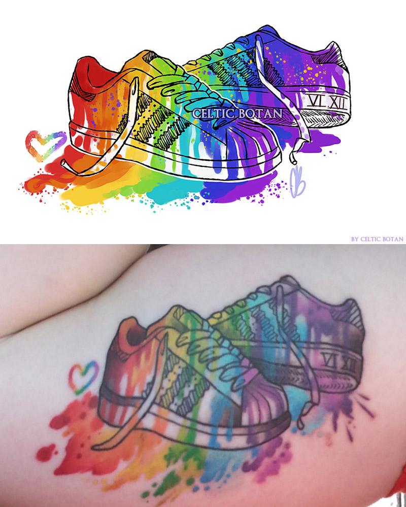 Pride Shoes (COMMISSION) by CelticBotan