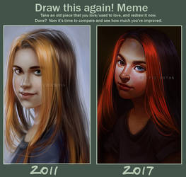 Draw This Again Meme: 2011 x 2017 by CelticBotan