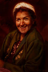 Portrait of a Smiling Old Lady (COMMISSION)