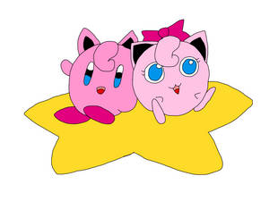 Rose Jigglypuff and Kirby-Puff by RoseJigglypuff76
