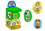 Animal Crossing Gachapon (OPEN) by RoseJigglypuff76