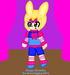 Alphonse Fluff the Birthday Bunny