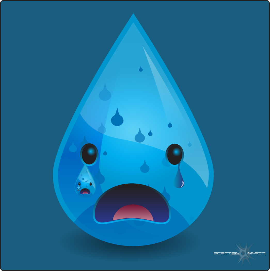 Sad Tear Drop by ScorchedEclipse