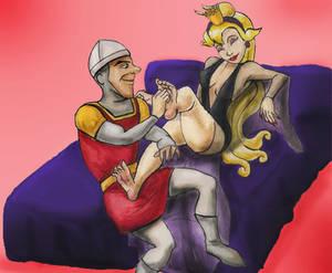 Dirk tickles Daphne