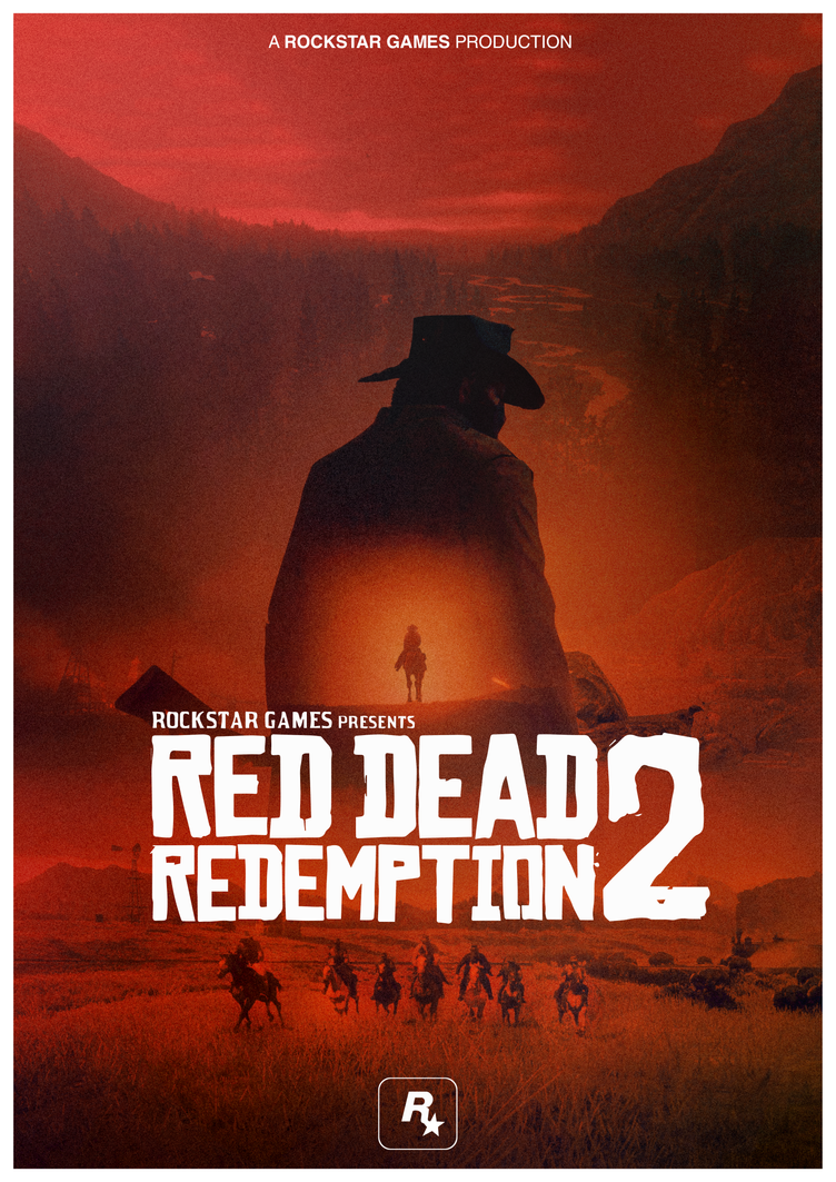Red dead redemption 2 poster cover by ifadefresh on deviantart for Buy art posters online