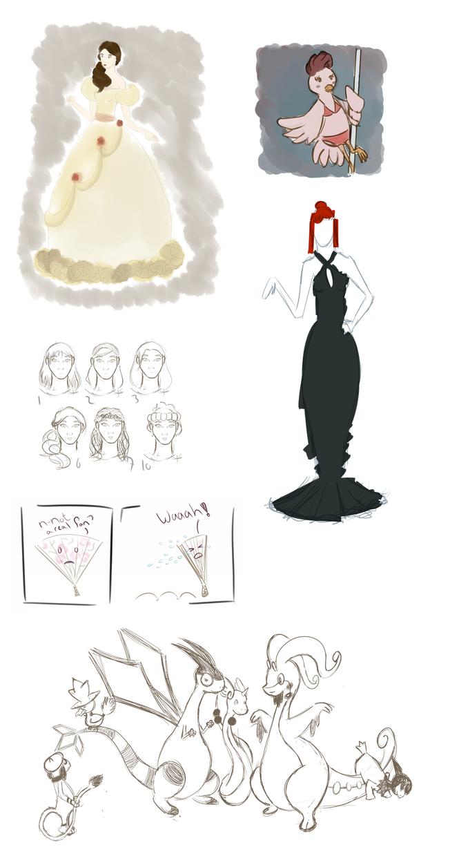 Doodle Dump 2 by stitchpunkz