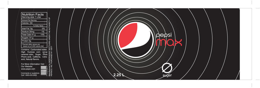 pepsi max label by thxnd on DeviantArt