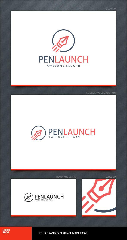 Pen Launch Logo Template