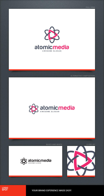 Atomic Media Logo Template