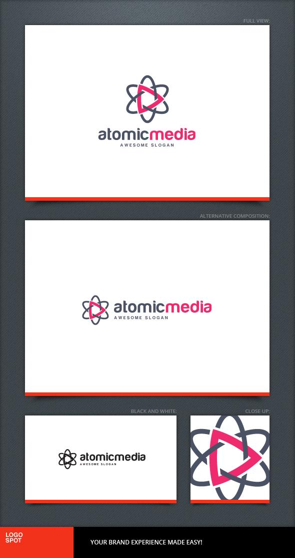 Atomic Media Logo Template by LogoSpot