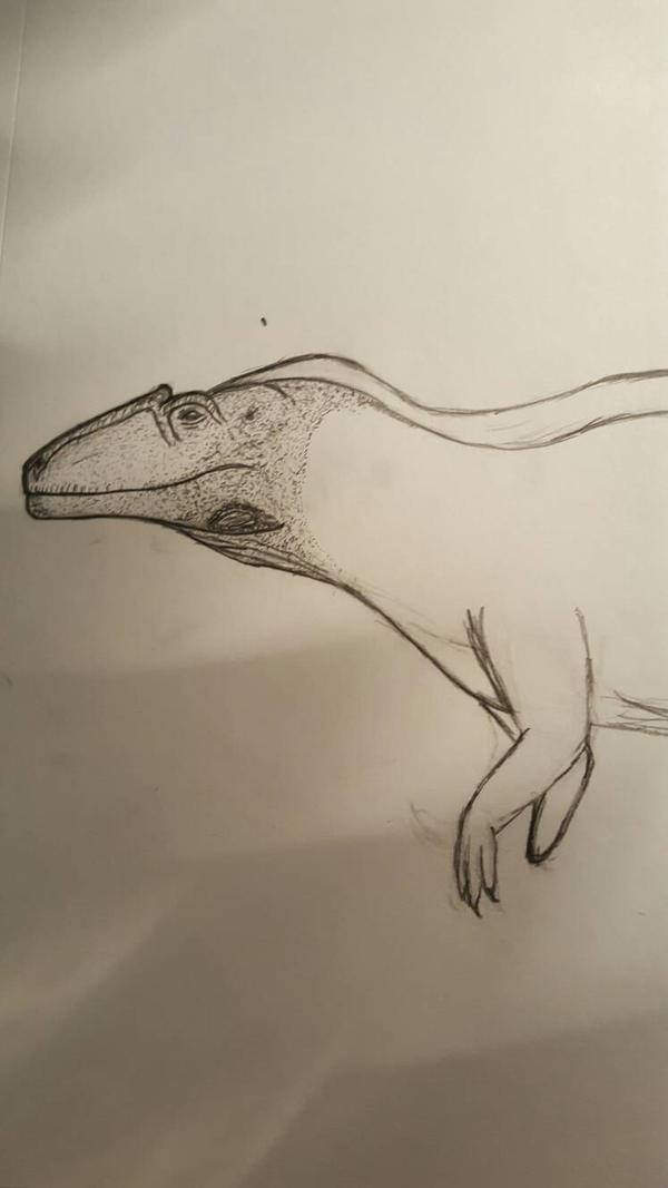 W.I.P Acrocanthosaurus pencil  by Dinoal188
