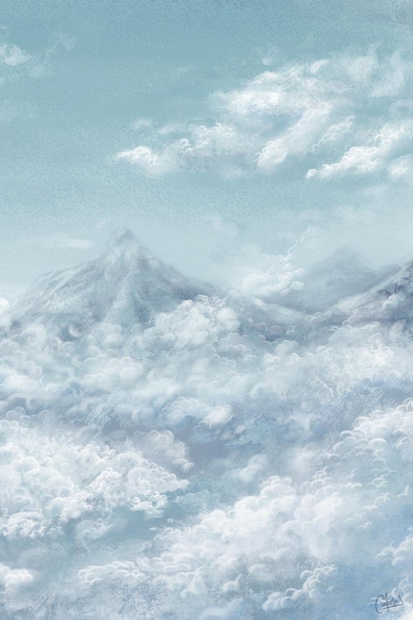 Clouds - Speed painting by Kurogane-sensei