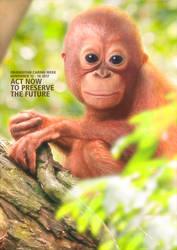 Orangutan Caring Week 2017 by sangilustrator