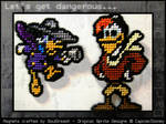 Darkwing Duck Magnets - Darkwing and Launchpad