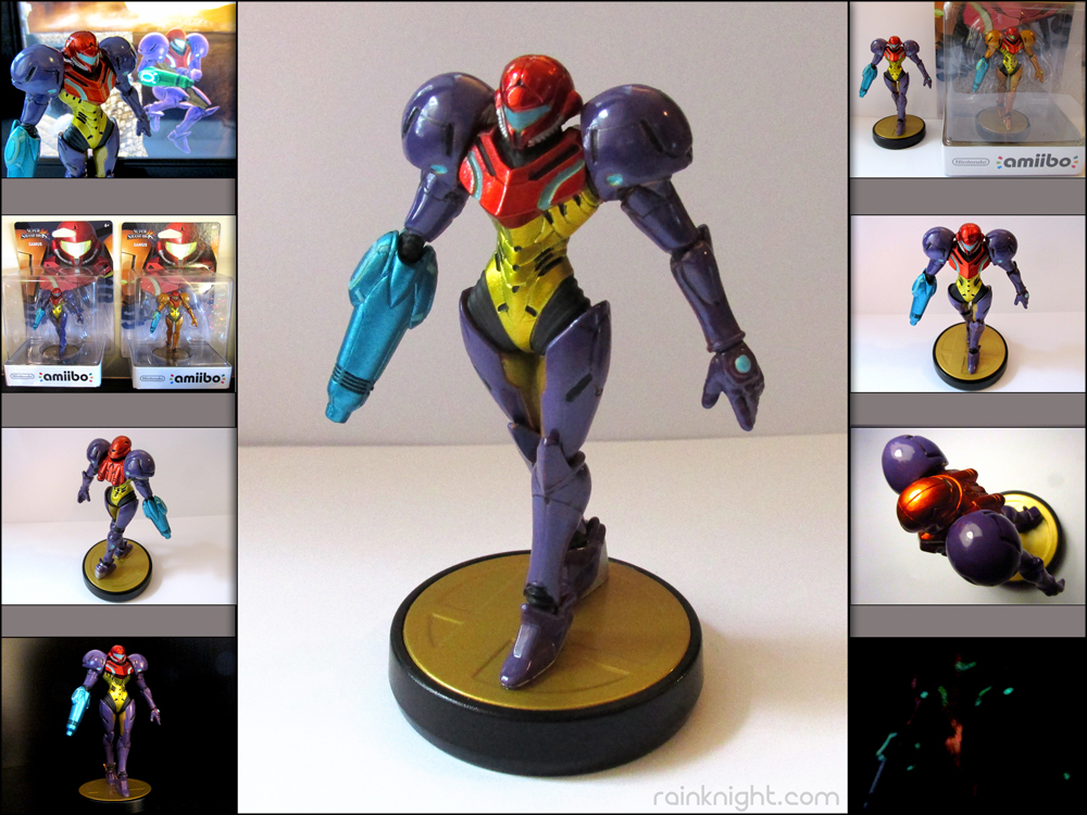 Amiibo Mod (Repaint) - Gravity Suit Samus by souldreamx