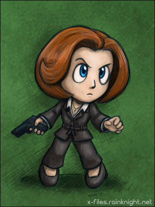 Tiny Badass Scully by souldreamx