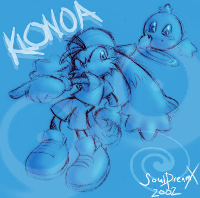 Klonoa and Huepow by souldreamx