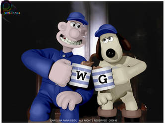 Wallace and Gromit by pixellorac
