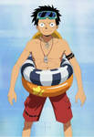 Monkey D. Luffy Shirtless