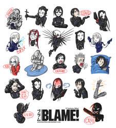 BLAME! Stickers by AveMachina