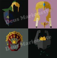 Zelda Shirt Designs by Deus-Marionette
