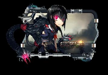 Cyborg Octo Anime Girl by rickogwapo