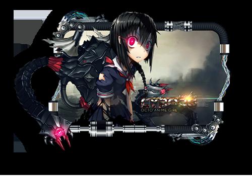 Cyborg Octo Anime Girl