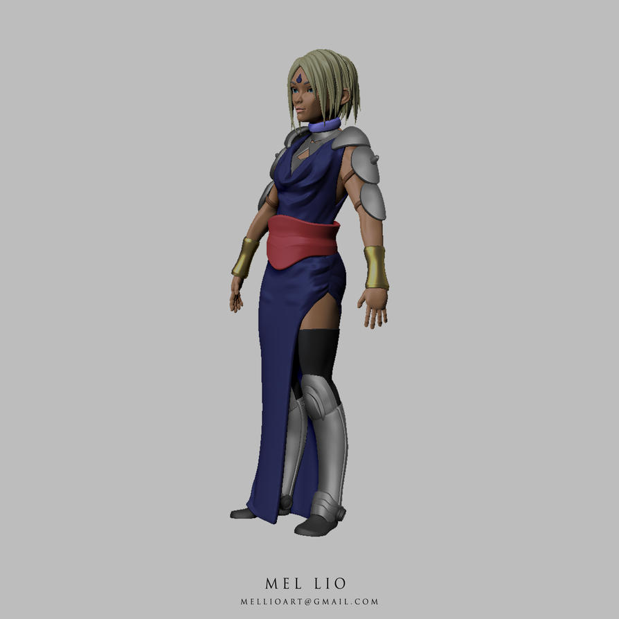 Shaman Warrior Priestess Turnaround 01 by koukisan
