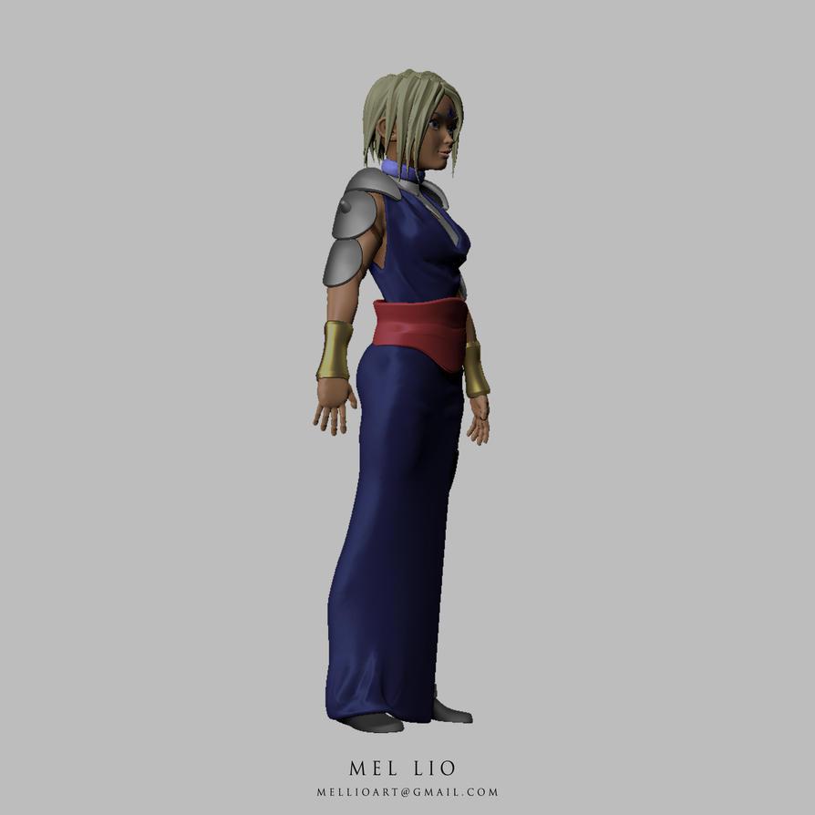 Shaman Warrior Priestess Turnaround 02 by koukisan