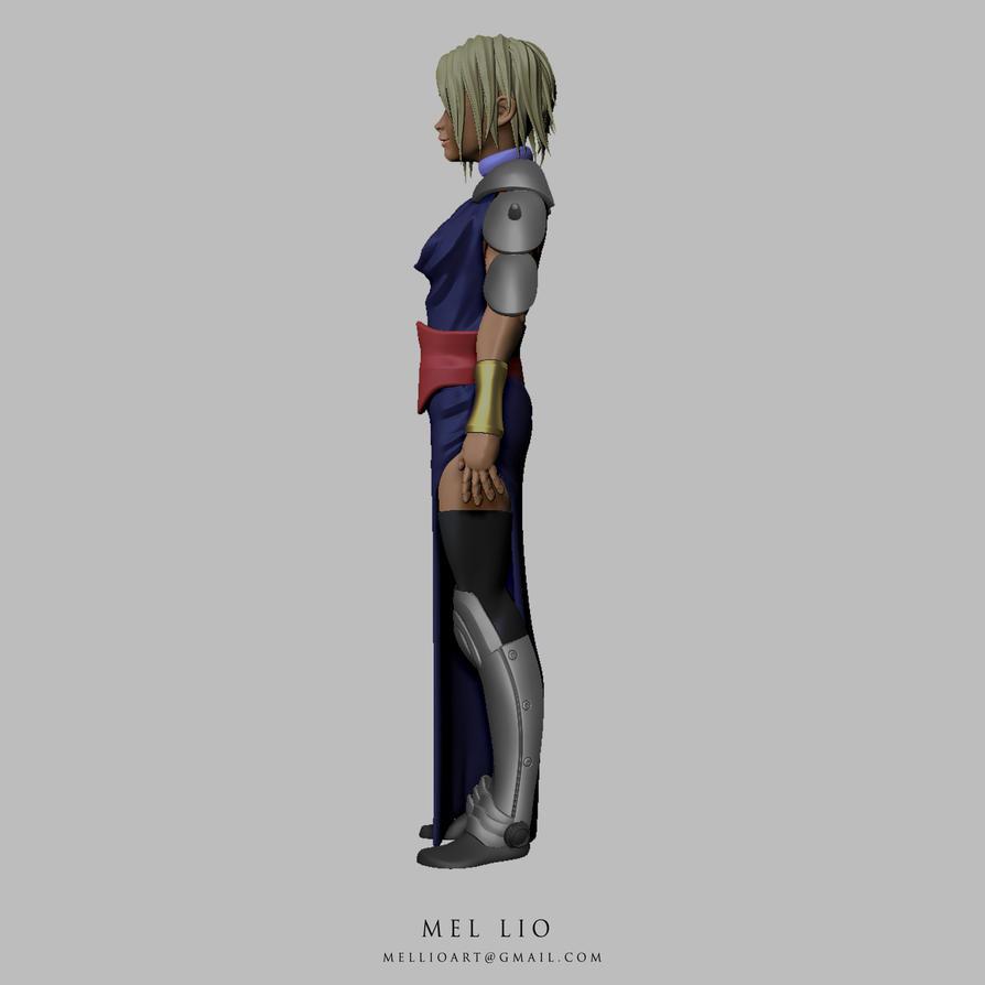 Shaman Warrior Priestess Turnaround 03 by koukisan
