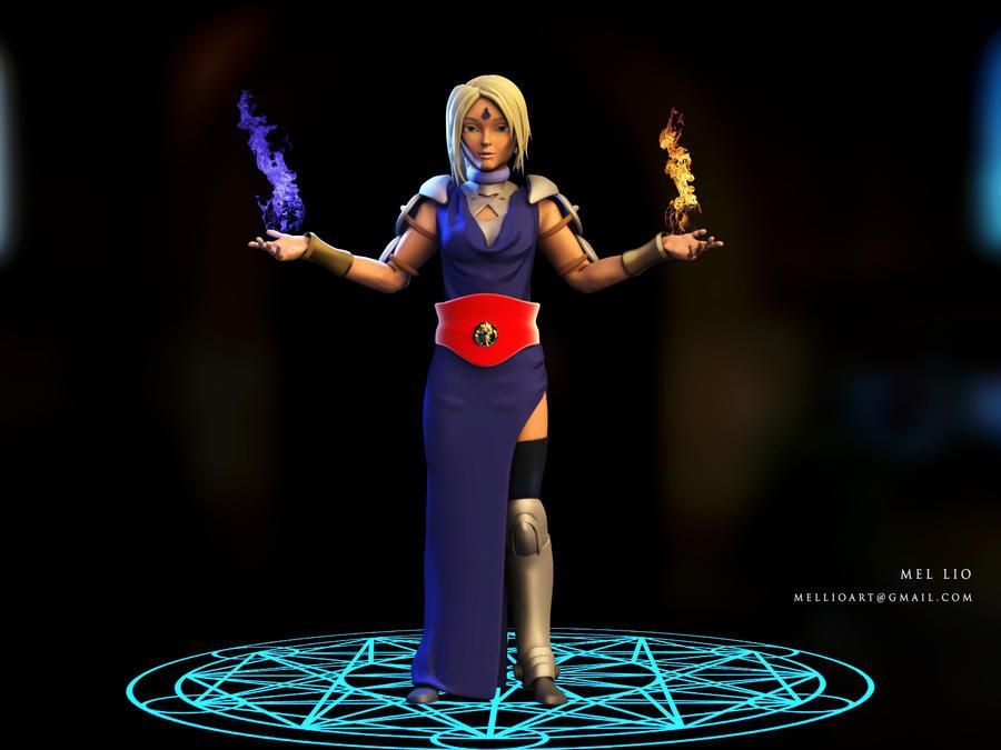 Shaman Warrior Priestess by koukisan