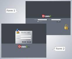 Clean Login Form Set by psadap