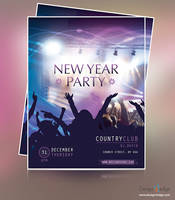 NEW YEAR PARTY FLYER DESIGN by psadap